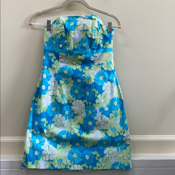 Lilly Pulitzer 2 Floral print strapless dress